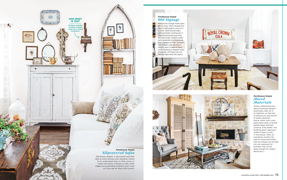 Country Living features Farmhouse Design Staples.
