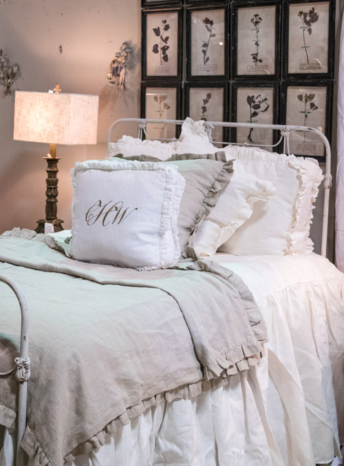 Carolyn Westbrooks booth features an antique bed at the City Farmhouse Pop Up Fair | June 2017 | Franklin, TN