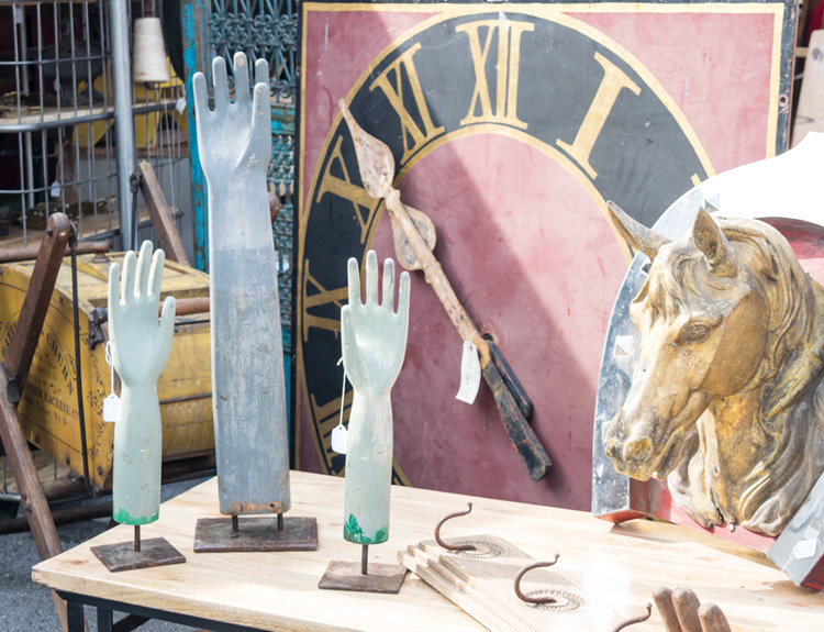 Raised hand statues at the City Farmhouse Pop Up Fair | June 2017 | Franklin, TN