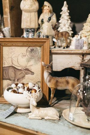Decorative reindeer at the November City Farmhouse Pop Up Fair
