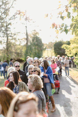 Crowds at the October City Farmhouse Pop Up Fair