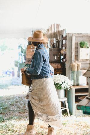 Stylish shopper at the City Farmhouse Pop Up Fair | Franklin, TN