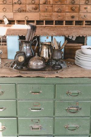 Teal vintage cabinet at the City Farmhouse Pop Up Fair | Franklin, TN
