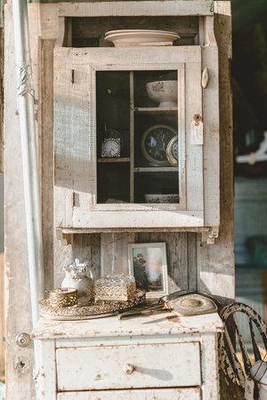 Old vintage hutch the the City Farmhouse Pop Up Fair | Franklin, TN