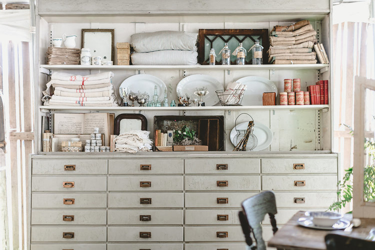 Classic white cabinet at the City Farmhouse Pop Up Fair | Franklin, TN