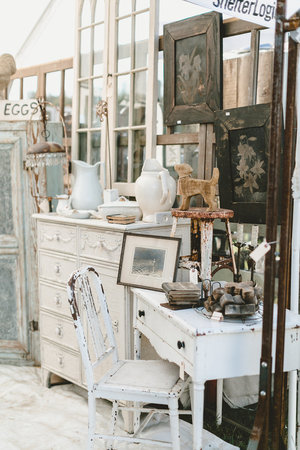 Farmhouse white furniture at the City Farmhouse Pop Up Fair | Franklin, TN