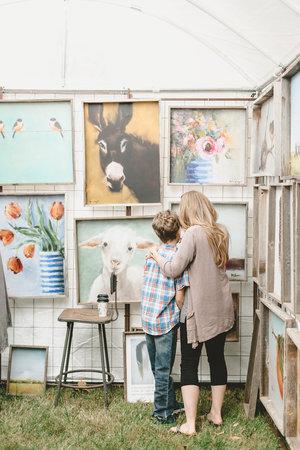 Authentic paintings at the City Farmhouse Pop Up Fair | Franklin, TN