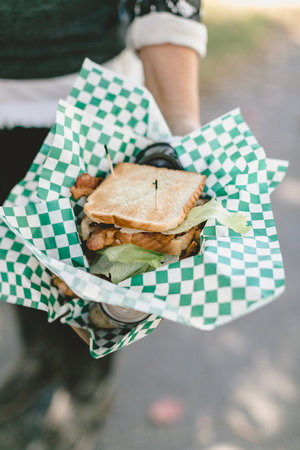 Sandwiches and more at the food trucks at the City Farmhouse Pop Up Fair | Franklin, TN
