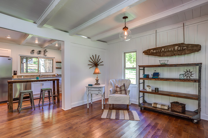 Antiques fill the space at The Nest, a VRBO in Franklin, TN | Interior Designer: Kim Leggett