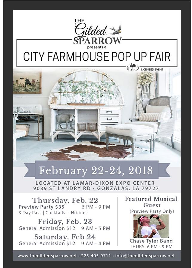 The Gilded Sparrow presents a City Farmhouse Pop Up Fair