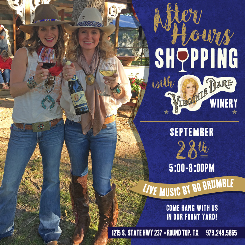 After hours shopping Sept 28