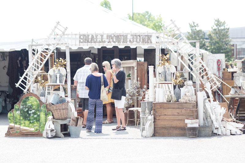 Small Town Junk's booth at the City Farmhouse Pop Up Fair