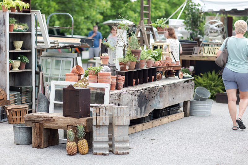 Curated antiques at the City Farmhouse Pop Up Fair