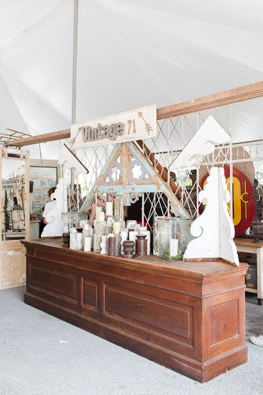 Antique merchants counter at the City Farmhouse Pop Up Fair