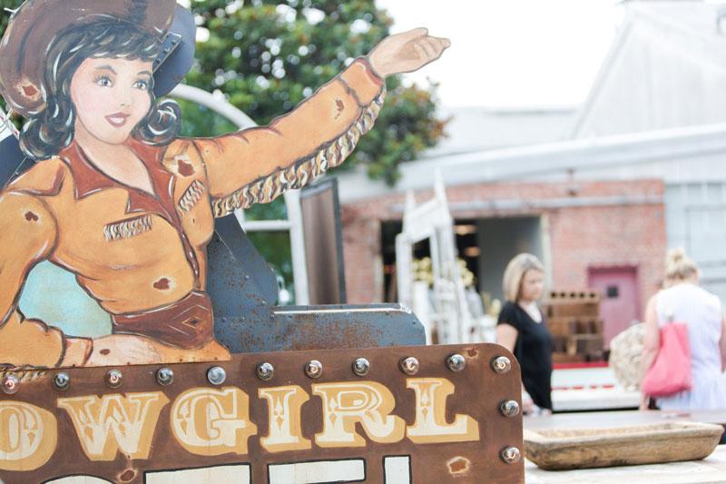 Vintage Cowgirl sign at the City Farmhouse Pop Up Fair