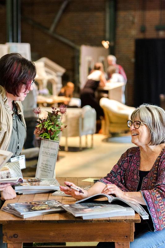 Jo Packham of Where Women Create magazine signing
