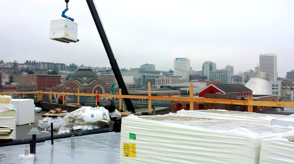Commercial Roofing Project in Downtown Tacoma,  click here  to learn more about the project.