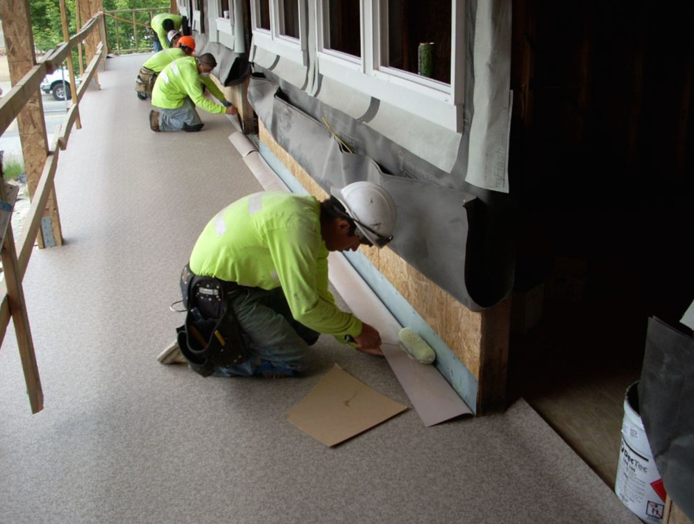 Our Tacoma Waterproofing Technicians At Work