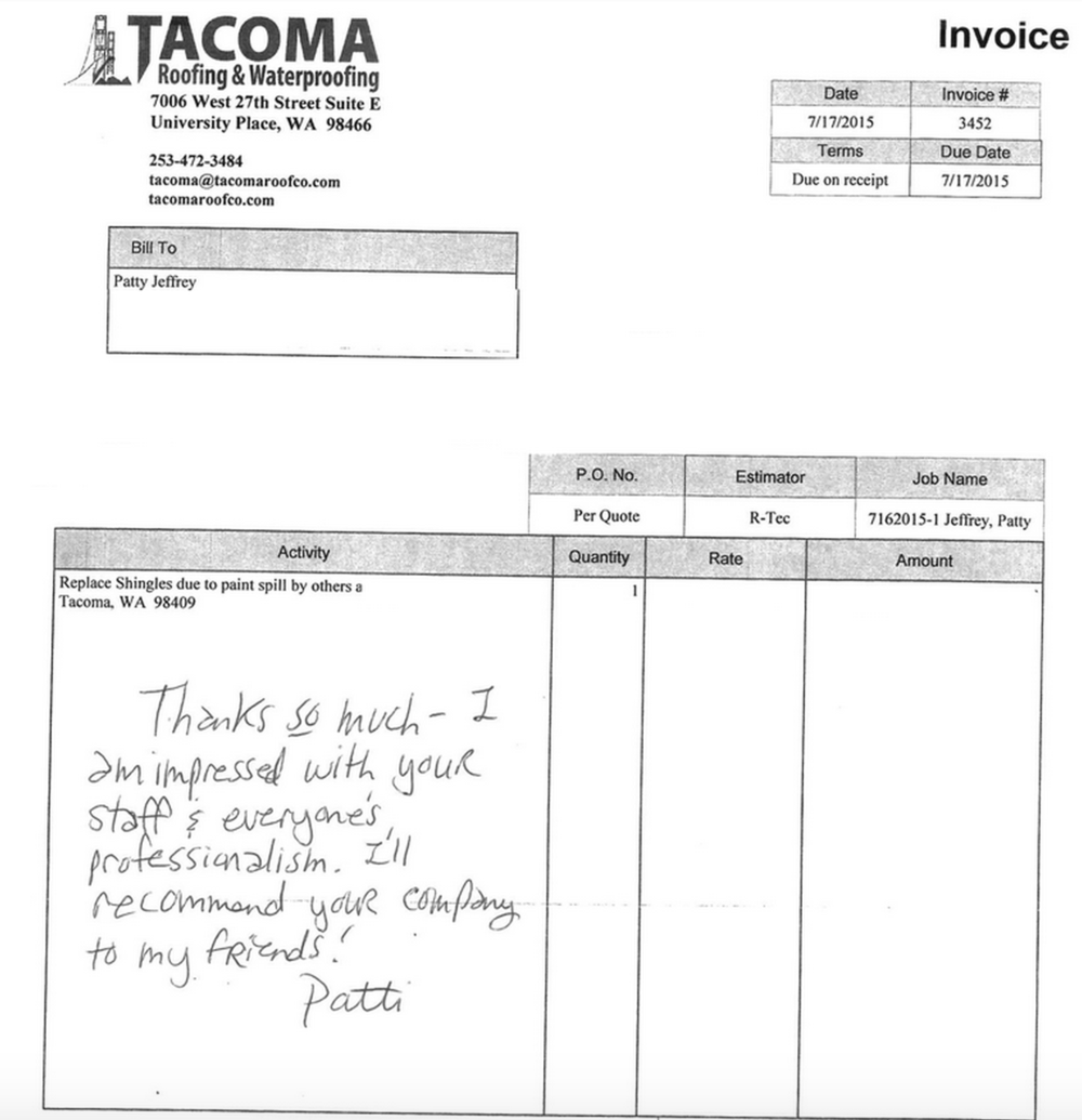 testimonials tacoma roofing waterproofing to schedule a estimate please call us today at 253 472 3484 or click below to fill out our estimate form