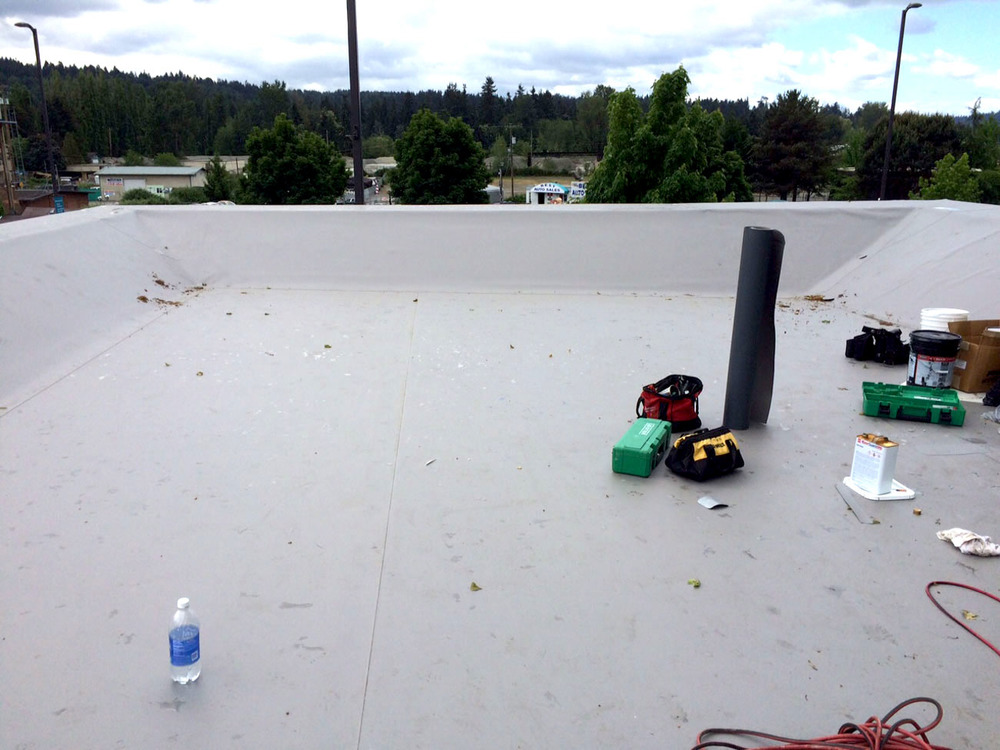 In Process of installing New Commercial Roofing System