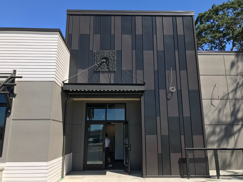 Pictured Above Is A Custom Hand Fabricated 24 Gauge Kynar Siding Panel  System. As You Can See The Unique Architectural Design ...