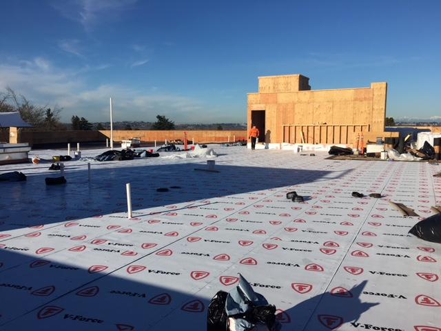 Jefferson Park In Progress Photo-V Force Vapor Barrier Being Installed