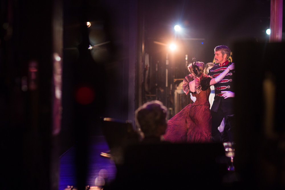 "Mike McGowan (Count Carl-Magnus Malcom) and Lauren Molina (Countess Charlotte Malcom) dance in the opening number of  ""A Little Night Music."" (Canon 5DIII, 85mm f/1.2L II)"
