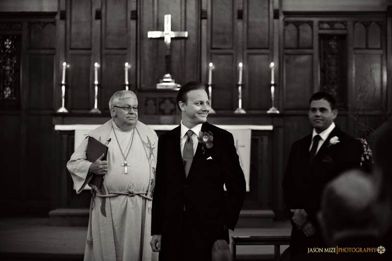 trinity lutheran church wedding: grooms face