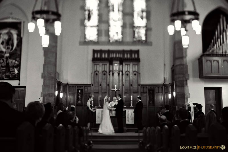 trinity lutheran church wedding black and white