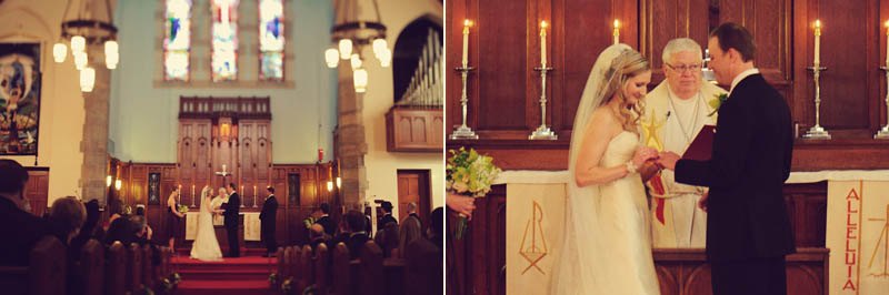 trinity lutheran church wedding: exchange rings