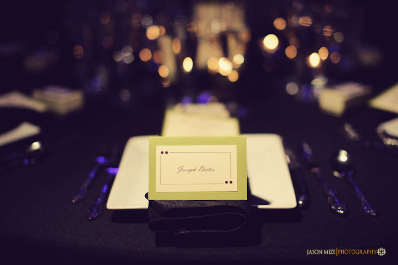 NOVA 535 wedding: escort cards