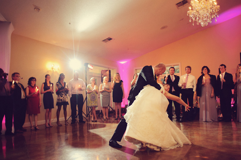 Lange Farm: bride and groom dancing