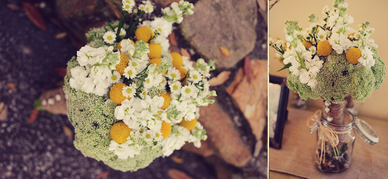 Bouquet flowers yellow