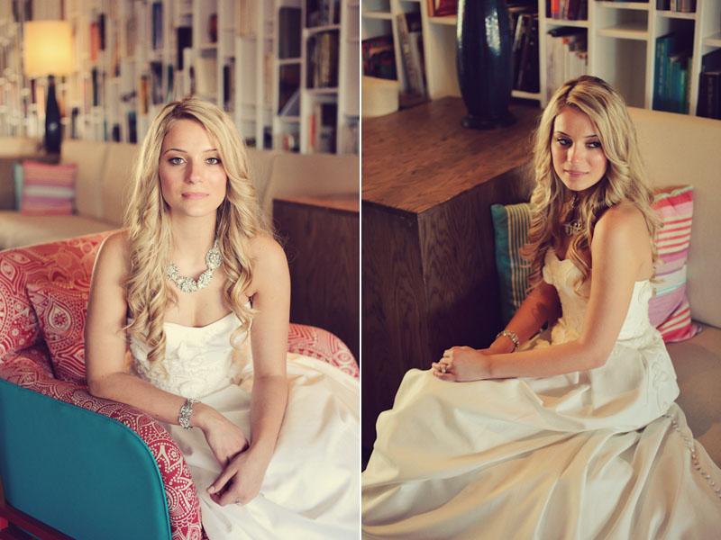 bride sitting lobby