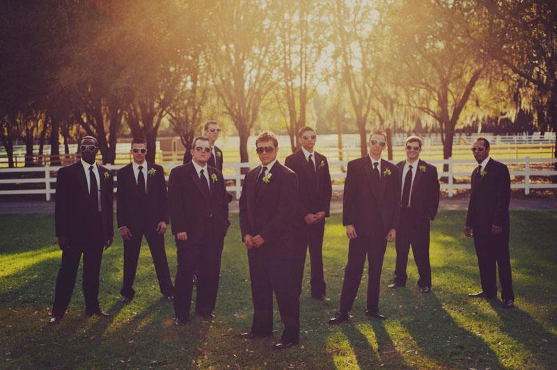groomsmen sun flare