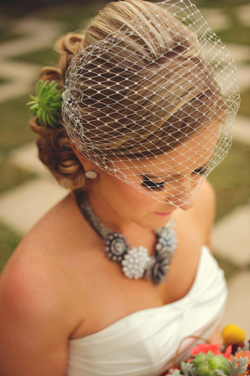 Kiley Garden: vintage bride birdcage veil