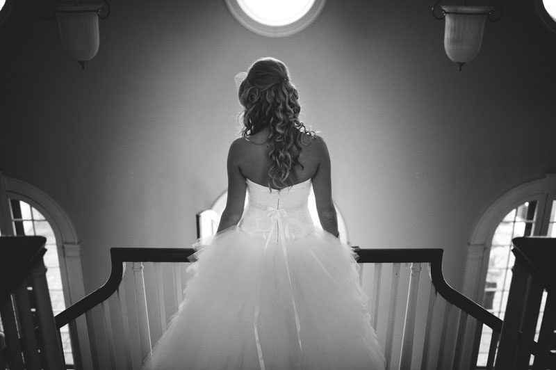 Selby Gardens Wedding: bride stairs