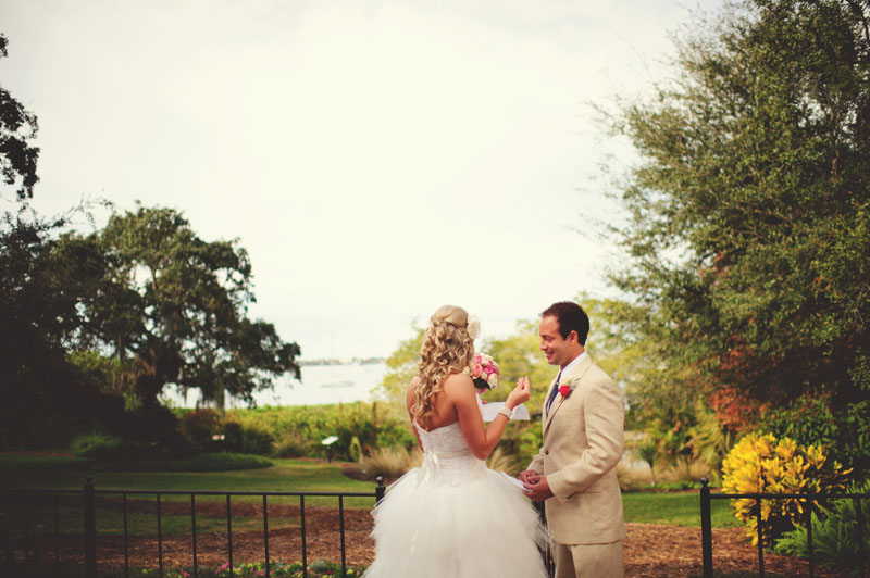 Selby Gardens Wedding: bride groom back house