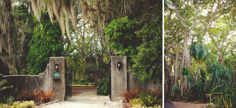 Selby Gardens Wedding: gate