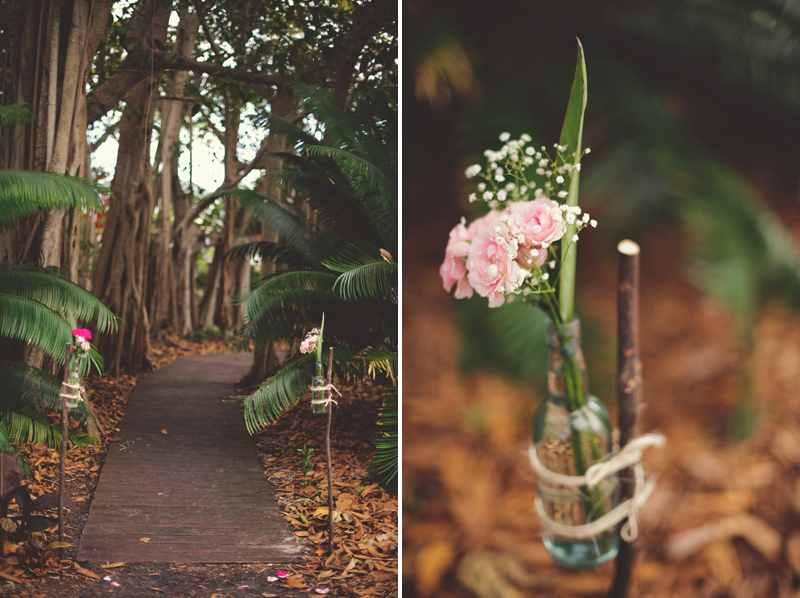 Selby Gardens Wedding: vintage bottles