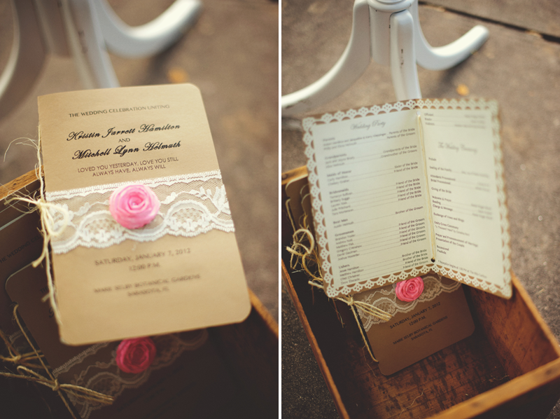 vintage wedding program DIY
