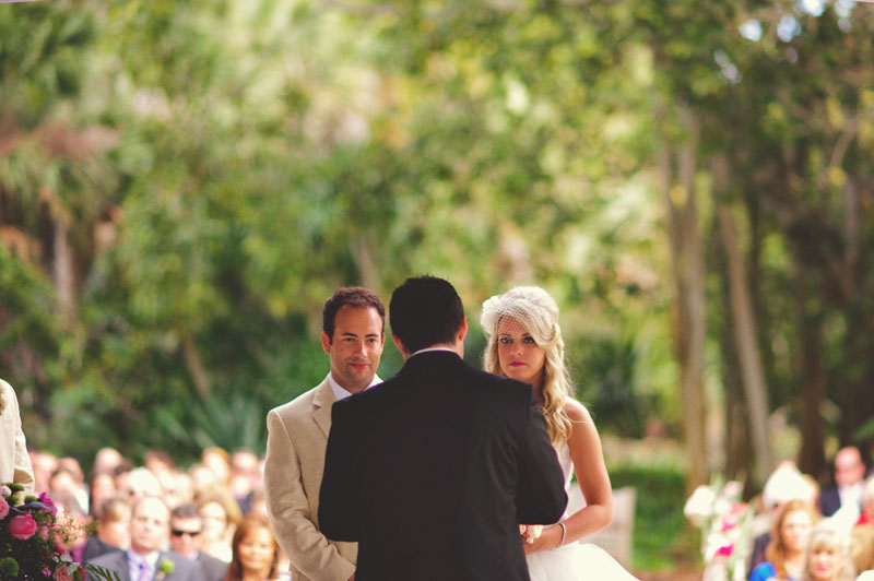 Selby Gardens Wedding: ceremony bride and groom