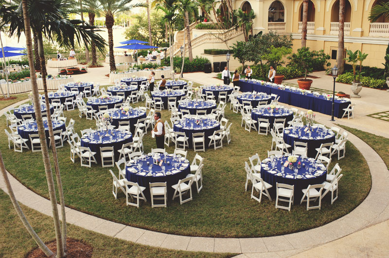 ritz carlton sarasota wedding: reception set up lawn