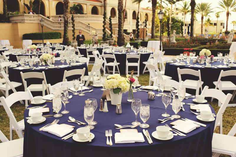 ritz carlton sarasota wedding: reception table setting