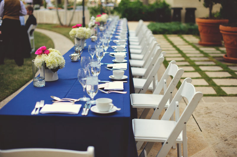 ritz carlton sarasota wedding: long table setting