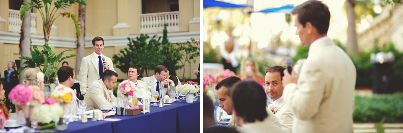 ritz carlton sarasota wedding: best man toast