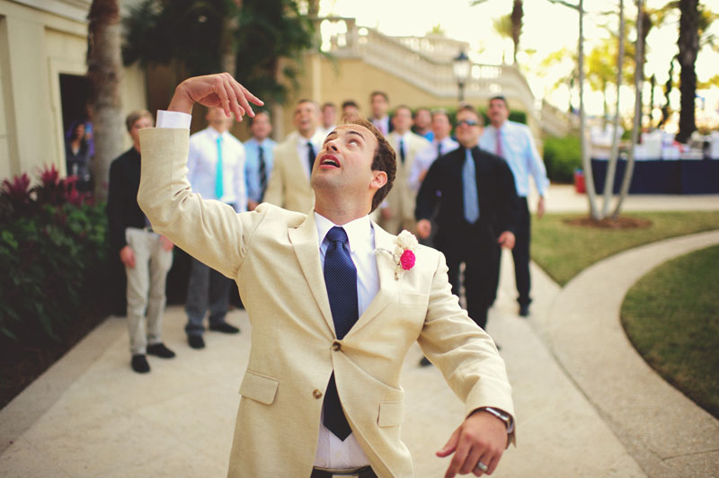 ritz carlton sarasota wedding: garder toss