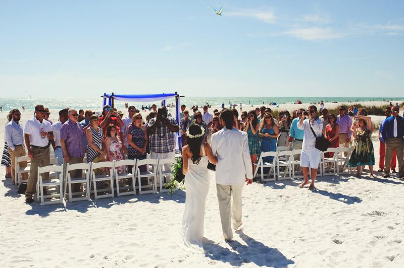 anna maria island wedding: precessional