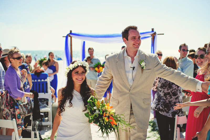 anna maria island wedding: recessional