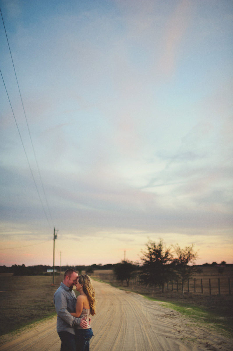 dirt road engagement session